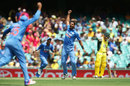Ishant Sharma is ecstatic after dismissing Aaron Finch, Australia v India, 5th ODI, Sydney, January 23, 2016