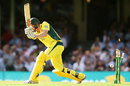 James Faulkner misses a yorker, Australia v India, 5th ODI, Sydney, January 23, 2016