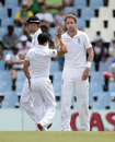 Stuart Broad provided England their first breakthrough of the morning, South Africa v England, 4th Test, Centurion, 2nd day, January 23, 2016