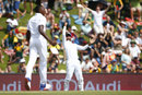 Dane Piedt throws the ball skywards after holding the catch to remove Alex Hales, South Africa v England, 4th Test, Centurion, 2nd day, January 23, 2016