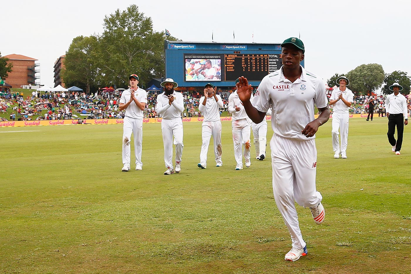 Nearly Ntini: Rabada took 13 for 144 against England in Centurion in 2016, just a few runs short of being South Africa's best Test match bowling performance of all time