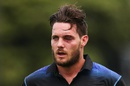Mitchell McClenaghan walks off the field with a bruised eye after getting hit by a short ball, New Zealand v Pakistan, 1st ODI, Basin Reserve, Wellington, January 25, 2016