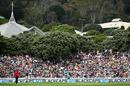 Fans pack the grass embankments at Basin Reserve for the first ODI there in nearly ten years, New Zealand v Pakistan, 1st ODI, Basin Reserve, Wellington, January 25, 2016