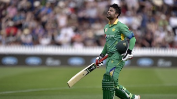Ahmed Shehzad holed out for 13 off 23 balls