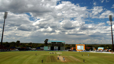 A general view of the Pakistan-Namibia match in Kimberley