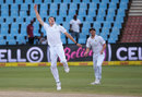 Morne Morkel celebrates his one-handed caught-and-bowled, South Africa v England, 4th Test, Centurion, 4th day, January 25, 2016