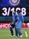 Virat Kohli and MS Dhoni walk off after taking India to 3 for 188, Australia v India, 1st T20 international, Adelaide, January 26, 2016