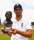 Alastair Cook with the Basil D'Oliveira trophy, South Africa v England, 4th Test, Centurion, 5th day, January 26, 2016