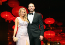 Shaun Marsh with wife Rebecca Marsh at the Allan Border medal ceremony, Melbourne, January 27, 2016
