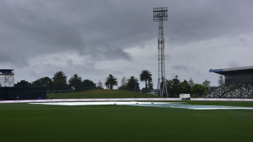It was a gloomy day at McLean Park