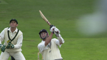 Chris Cairns hits a six