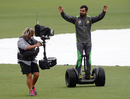 Mohammad Hafeez has a go on a Segway, New Zealand v Pakistan, 2nd ODI, Napier, January 28, 2016
