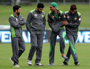 Mohammad Amir has a laugh with his team-mates, New Zealand v Pakistan, 2nd ODI, Napier, January 28, 2016