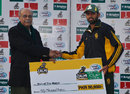 Zia-ul-Haq's five-for earned him the Man-of-the-Match award, United Bank Limited v National Bank of Pakistan, 1st semi-final, National One Day Cup, Lahore, January 26, 2016