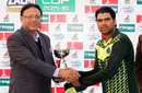 Shahid Yousuf was the Man of the Match for his unbeaten 100, Khan Research Laboratories v Islamabad, 2nd semi-final, National One Day Cup, Lahore, January 27, 2016