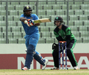Sarfaraz Khan's 74 steered India Under-19s to a strong total, India v Ireland, Under-19 World Cup, Mirpur, January 28, 2016