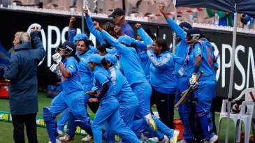 India Women celebrate their series victory