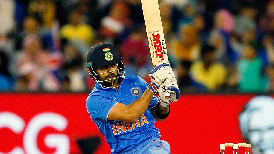 Virat Kohli targets the leg side