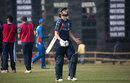 Rory Johnston reacts to his dismissal, Namibia v Scotland, Under-19 World Cup, Group C, January 29, 2016