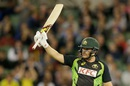 Aaron Finch led the chase with a fifty, Australia v India, 2nd T20I, Melbourne, January 29, 2016