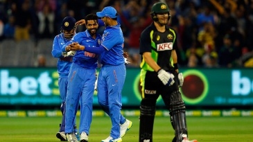 Ravindra Jadeja sent Shane Watson back with a sharp caught and bowled