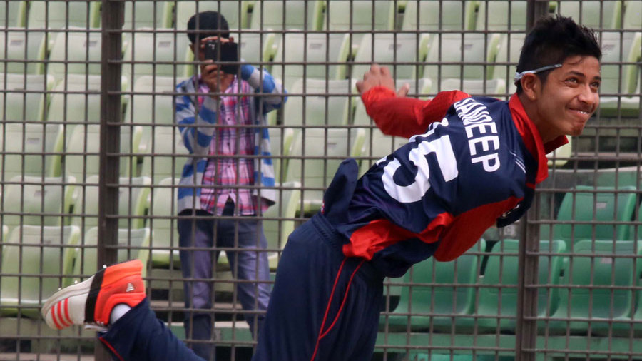 Sandeep Lamichhane collected 5 for 27