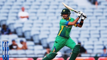 Babar Azam cuts off the front foot