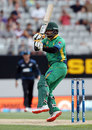 Mohammad Hafeez swivels into a pull, New Zealand v Pakistan, 3rd ODI, Auckland, January 31, 2016