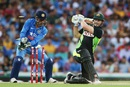 Shaun Marsh was bowled by R Ashwin, Australia v India, 3rd T20I, Sydney, January 31, 2016