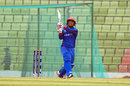 Tariq Stanikzai hoicks the ball over the leg side, Afghanistan v Canada, Under-19 World Cup, Sylhet, February 1, 2016