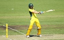 Ellyse Perry plays a cut during her 90, Australia v India, 1st Women's ODI, Canberra, February 2, 2016