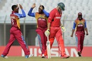 Gidron Pope celebrates a wicket with captain Shimron Hetmyer, West Indies v Zimbabwe, Under-19 World Cup, Chittagong, February 2, 2016