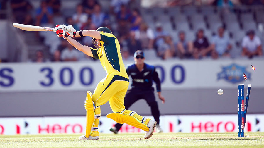 Steven Smith is bowled off the inside edge