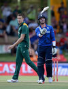 Jason Roy tosses his bat in annoyance after falling for 48, South Africa v England, 1st ODI, Bloemfontein, February 3, 2016