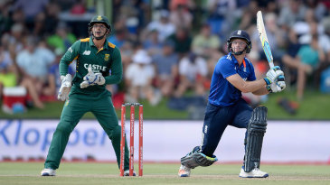 Jos Buttler muscled his way to his fourth ODI hundred