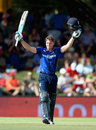 Jos Buttler celebrates a century from 73 balls, South Africa v England, 1st ODI, Bloemfontein, February 3, 2016