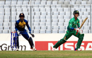 Hasan Mohsin looks for a run during his knock of 86, Pakistan v Sri Lanka, Under-19 World Cup 2016, Mirpur, February 3, 2016