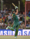 Faf du Plessis contributed to a century stand, South Africa v England, 1st ODI, Bloemfontein, February 3, 2016