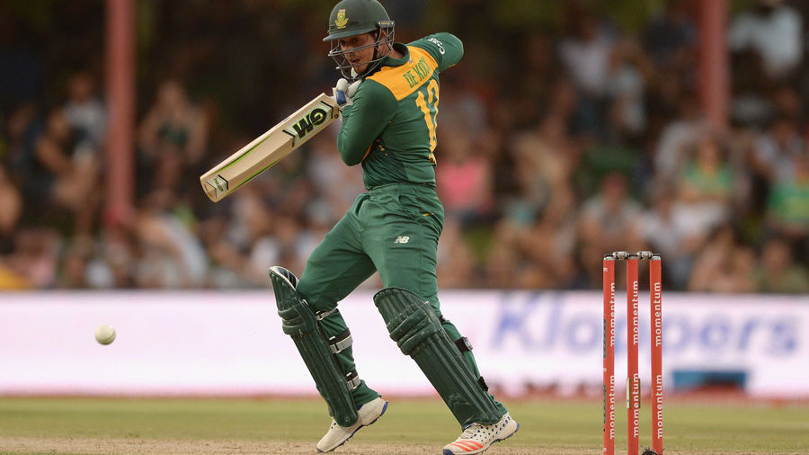 Quinton de Kock brought up a 37-ball fifty