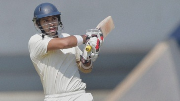 Naman Ojha plays a pull during his 64