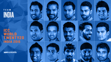 India's squad for the 2016 World T20