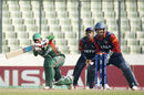 Mehedi Hasan works one on the leg side during his unbeaten 55, Bangladesh Under-19s v Nepal Under-19s, Quarter-final, Under-19 World Cup 2016, Dhaka, February 5, 2016