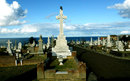 Victor Trumper's grave at the scenic Waverley Cemetery, Sydney, February 23, 2012