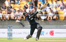Martin Guptill goes straight, New Zealand v Australia, 2nd ODI, Wellington, February 6, 2016