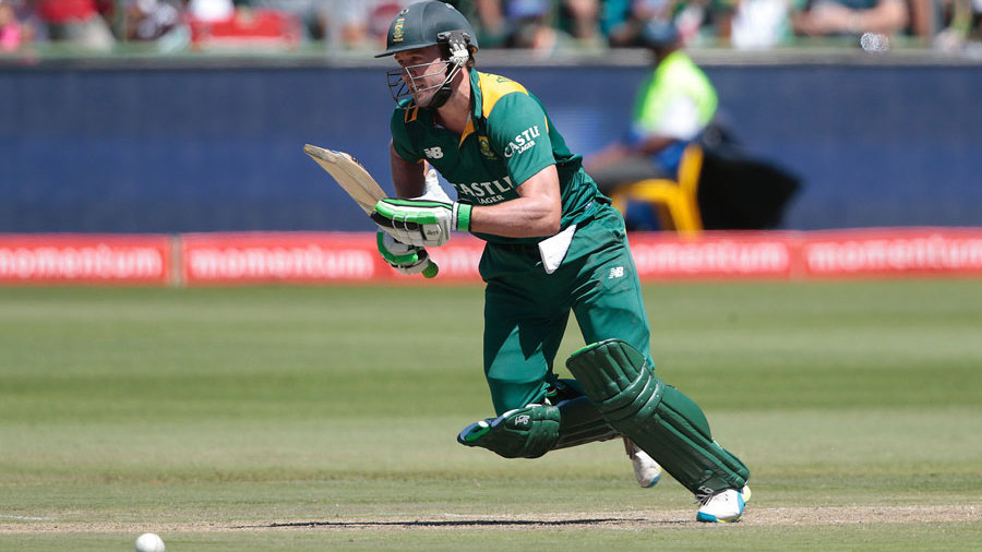 AB de Villiers' innings was full of hard running