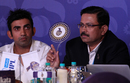 Gautam Gambhir and Venky Mysore, CEO of Kolkata Knight Riders, bid for a player during the IPL 2016 auction, Bangalore, February 6, 2016