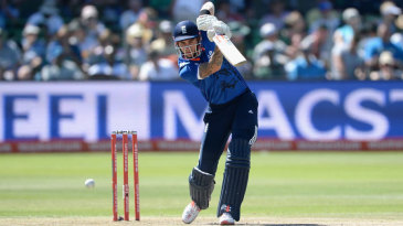 Alex Hales anchored England's reply with a 68-ball half-century