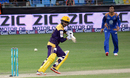 Ahmed Shehzad taps the ball towards third man during his 71, Quetta Gladiators v Karachi Kings, Pakistan Super League 2016, Dubai, February 6, 2016