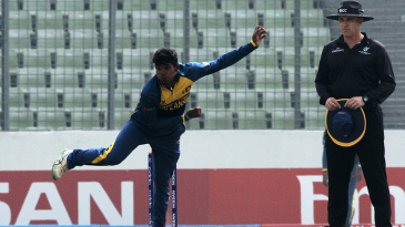Legspinner Wanidu Hasaranga was Sri Lanka Under-19s' best bowler with returns of 3 for 34