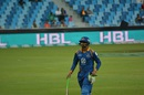 Shoaib Malik was dismissed by Mohammad Sami for 6, Islamabad United v Karachi Kings, Pakistan Super League 2016, Dubai